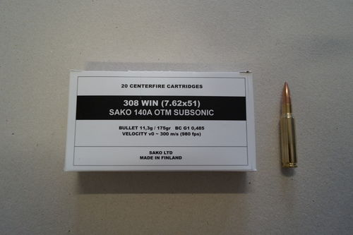 Sako M-LE cal 308 Win - 175 grs HPBT Match SUBSO x 20